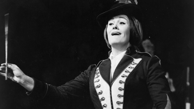 Joan Sutherland shined as Marie in La Fille du Régiment at the Metropolitan Opera, where she shared the stage with Luciano Pavarotti. (Getty Images)