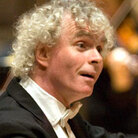 Simon Rattle on the podium.
