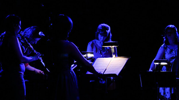 Missy Mazzoli's quintet, Victoire, blurs the boundaries between classical music and other stlyes.