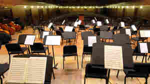 A symphony stage with no musicians?
