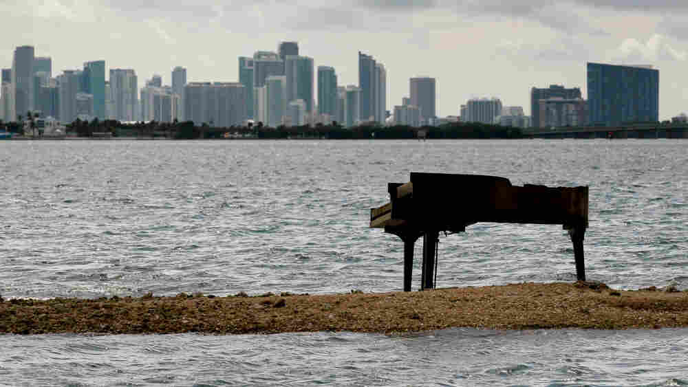 Grand Piano On A Sandbar