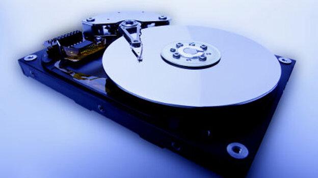 innards of a hard drive