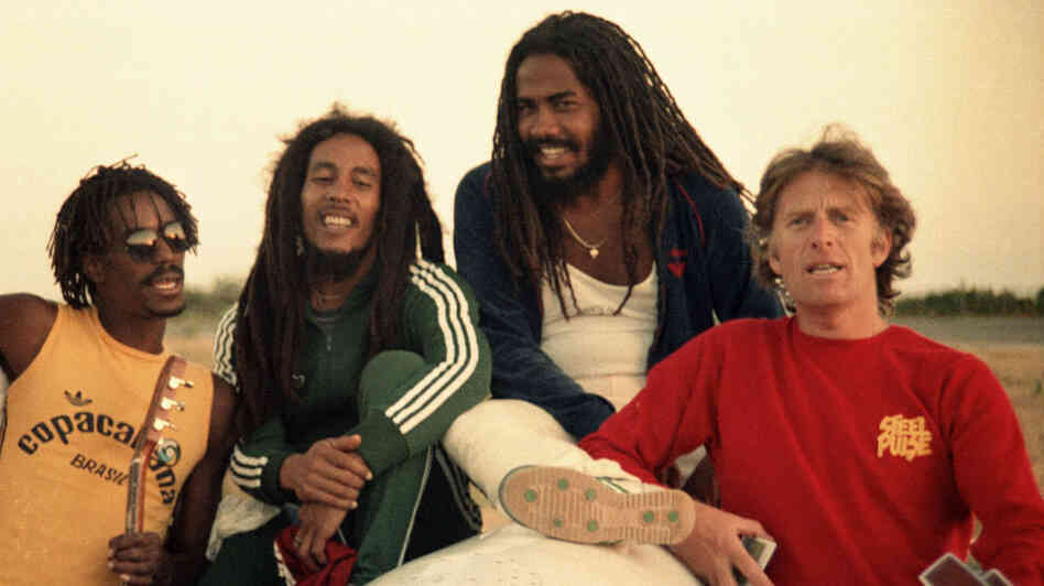 Chris Blackwell with Bob Marley