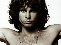 Jim Morrision on the cover of The Best Of The Doors; Courtesy of Rhino Records