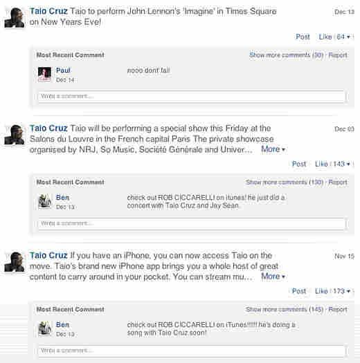 Taio Cruz's Ping