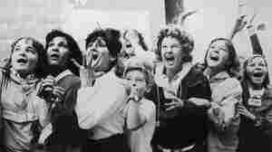 Women and girls in Toronto, Canada screaming with joy during a visit by the Beatles to their city.