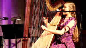 Joanna Newsom performs at the Sixth & I Synagogue.