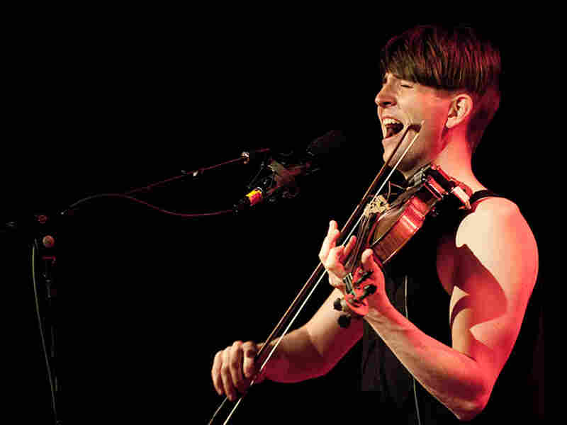 Owen Pallett onstage at Webster Hall; credit: Jon Vachon