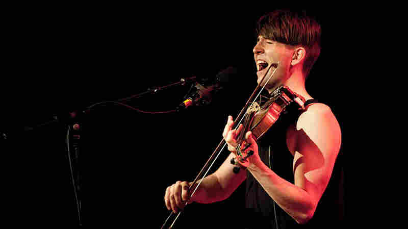 Owen Pallett onstage at Webster Hall; credit: Jon Vachon