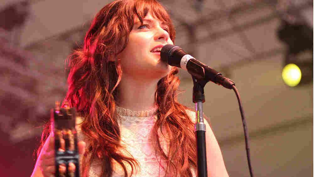 She and Him at Bonnaroo; credit: Shantel Mitchell / NPR