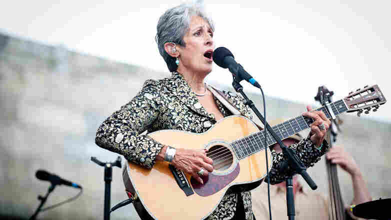 Joan Baez performs at Newport Folk.