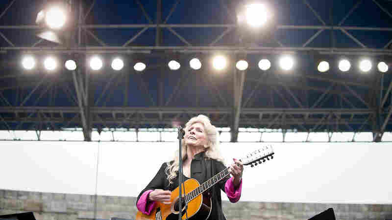 Judy Collins performs at Newport Folk.