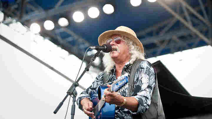 Arlo Guthrie performs at Newport Folk.