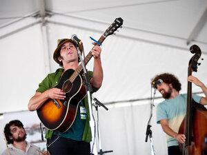 Langhorne Slim performs at Newport Folk Festival.