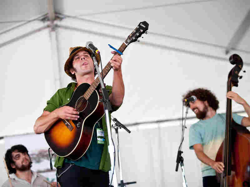 Langhorne Slim performs at Newport Folk Festival.