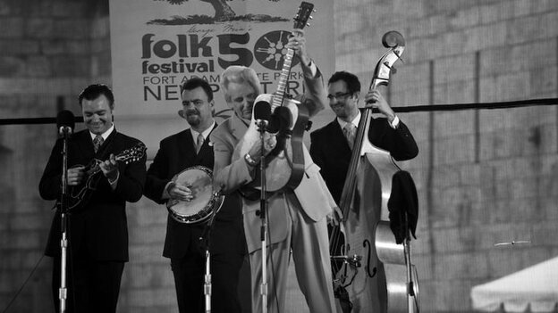The Del McCoury Band performs at Newport Folk.