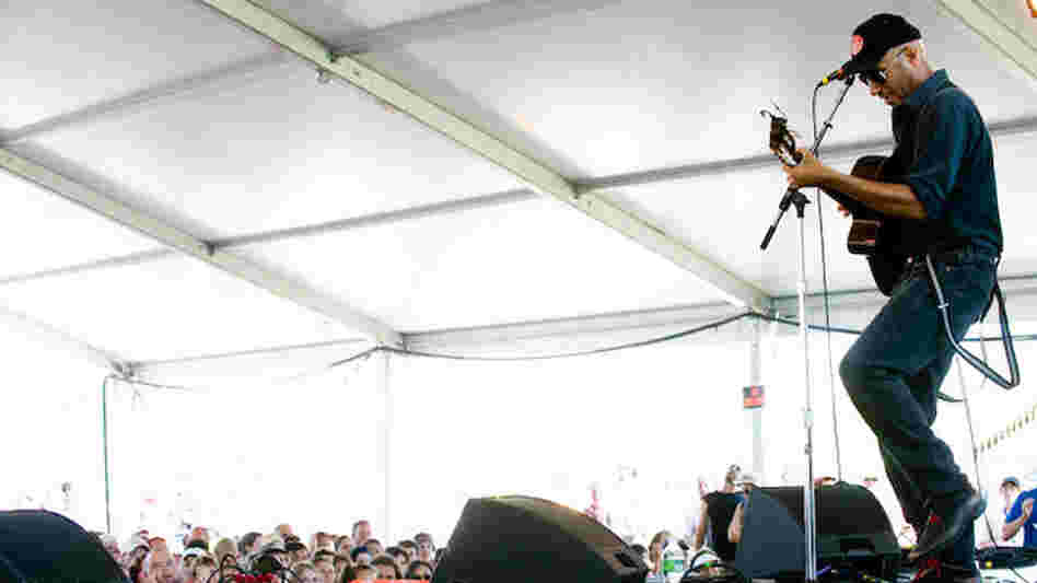 Tom Morello performs at Newport Folk.