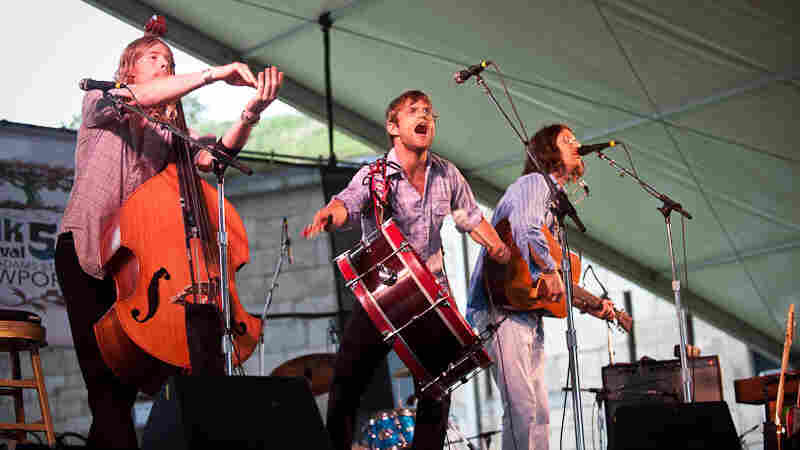 Elvis Perkins in Dearland performs at Newport Folk.