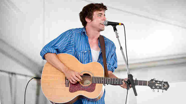 Joe Pug performs at Newport Folk.