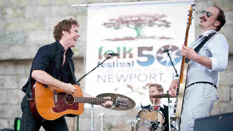 Josh Ritter performs at Newport Folk.