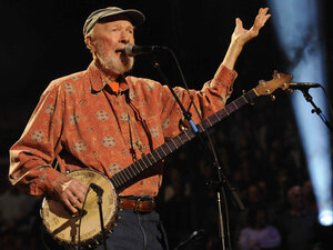 Pete Seeger will lead a hootenanny at the end of both the Saturday- and Sunday-night concerts.