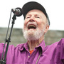 Pete Seeger leads the crowd at Newport Folk.