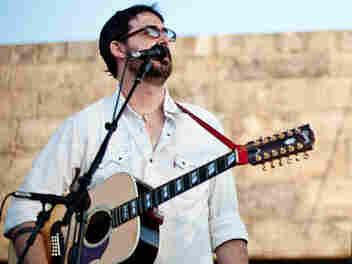 Tao Rodriguez-Seeger performs at Newport Folk.