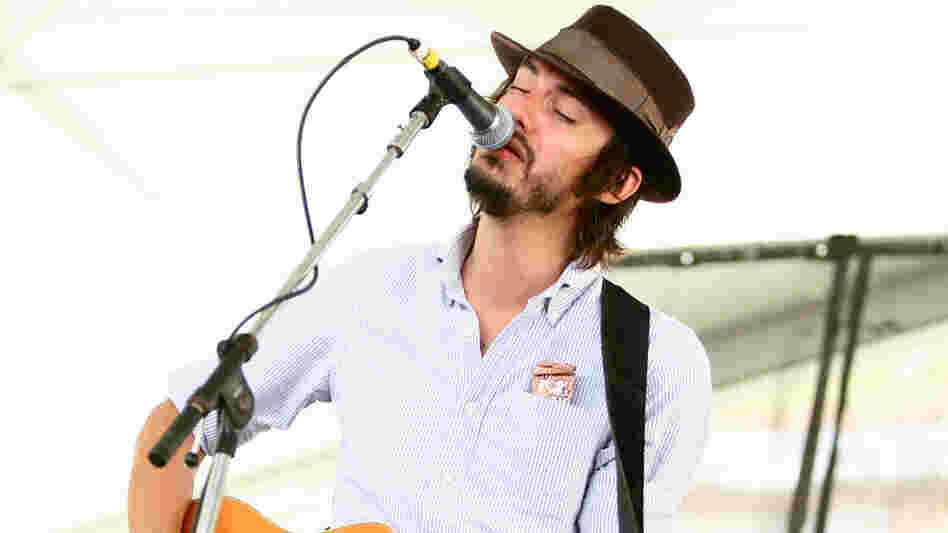 Cory Chisel performs at the 2010 Newport Folk Festival.