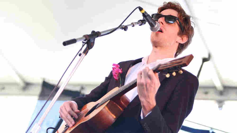 Daniel Martin Moore performs at the 2010 Newpo