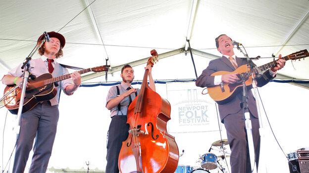 Pokey LaFarge performs at the 2010 Newport Folk Festival.