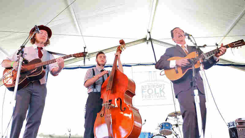 Pokey LaFarge performs at the 2010 Newport Folk Festival.