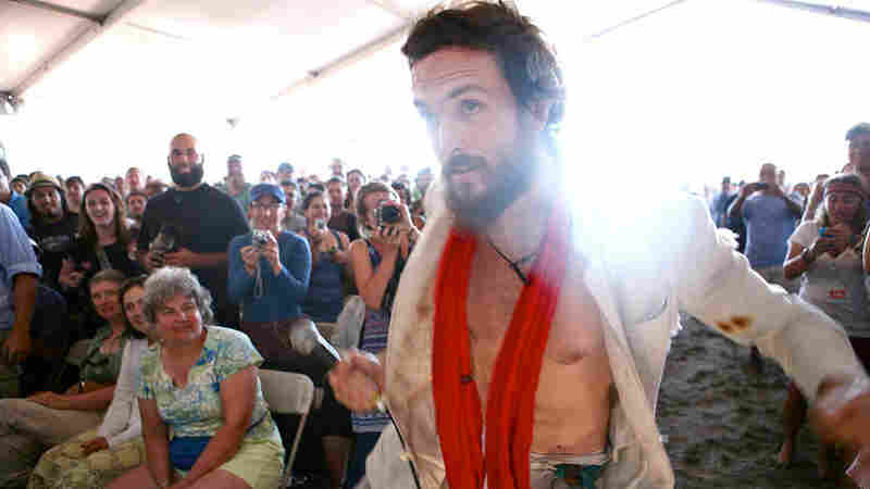 Edward Sharpe and the Magnetic Zeros performs at the 2010 Newport Folk Festival.