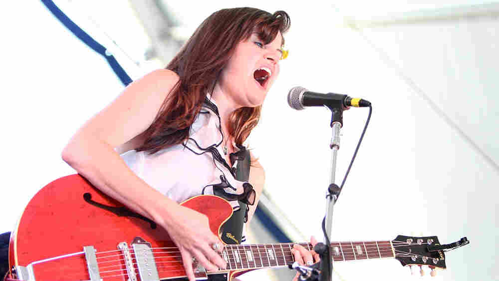April Smith performs at the 2010 Newport Folk Festival.