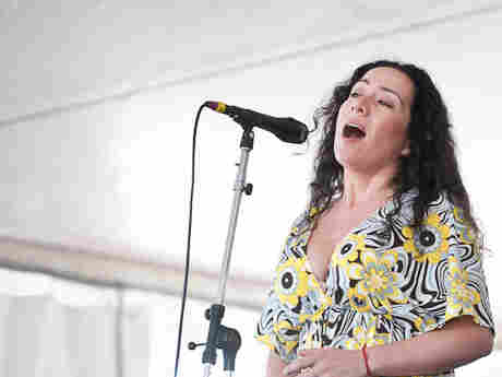 Claudia Acuna performs at Newport Jazz.