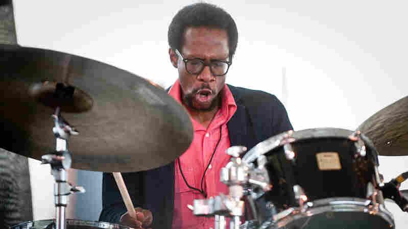 Brian Blade performs at Newport Jazz.