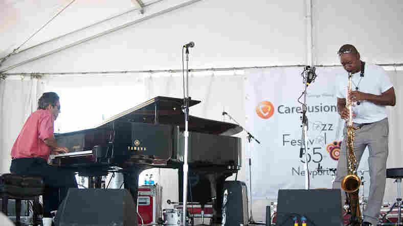 Branford Marsalis and Joey Calderazzo perform at Newport Jazz.