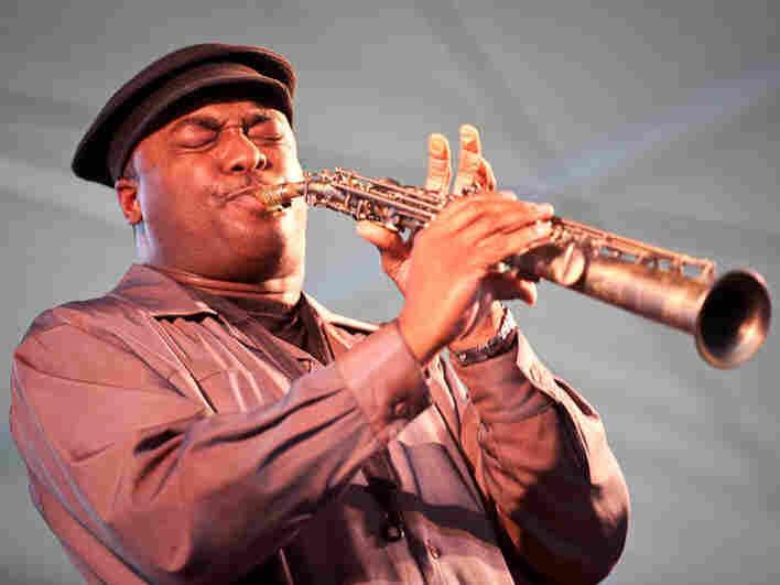 James Carter performs at Newport Jazz.