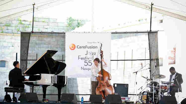 Viyay Iyer Trio performs at Newport Jazz.