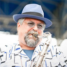 Joe Lovano performs at Newport Jazz.