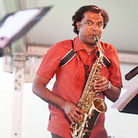 Rudresh Mahanthappa performs at Newport Jazz.