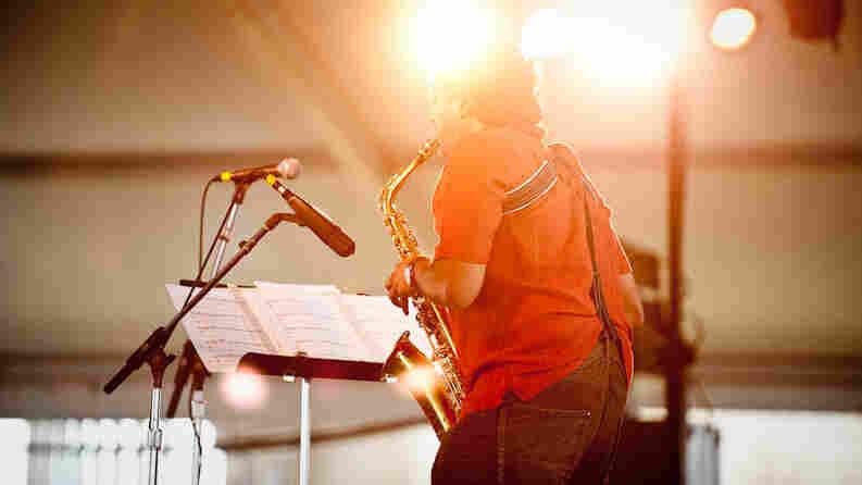 Rudresh Mahanthappa performs at Newport Jazz.