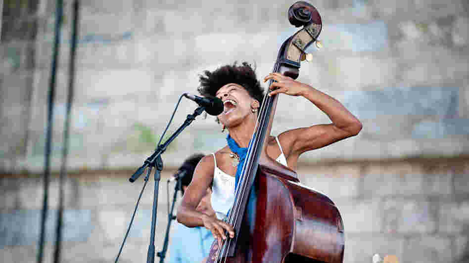 Esperanza Spalding performs at Newport Jazz.