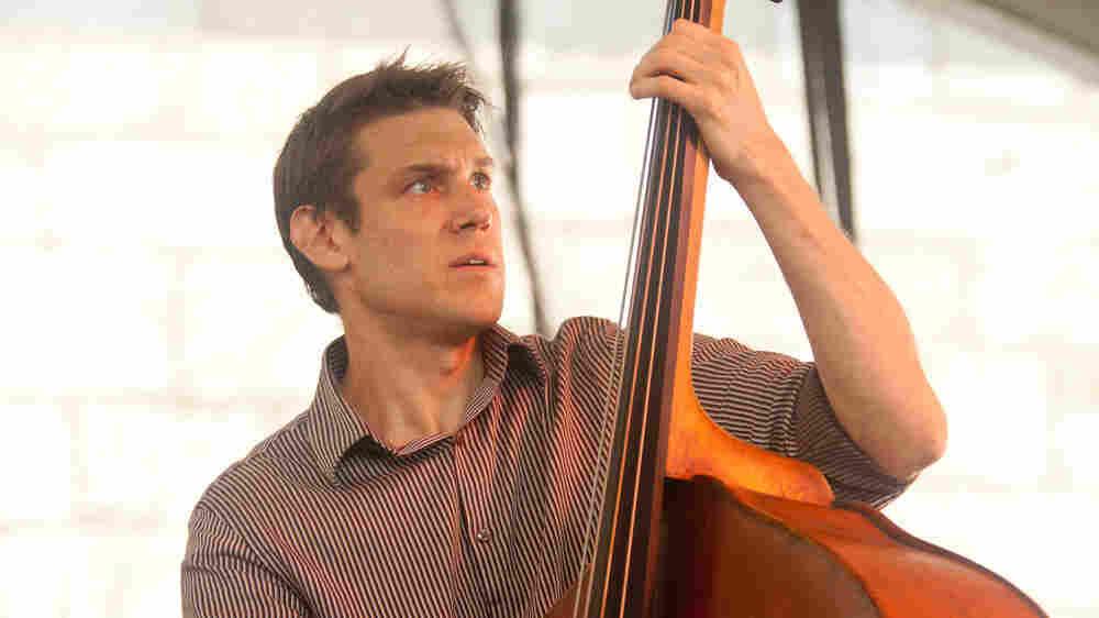 Ben Allison Band in concert at Newport Jazz 2010; credit: Erik Jacobs for NPR
