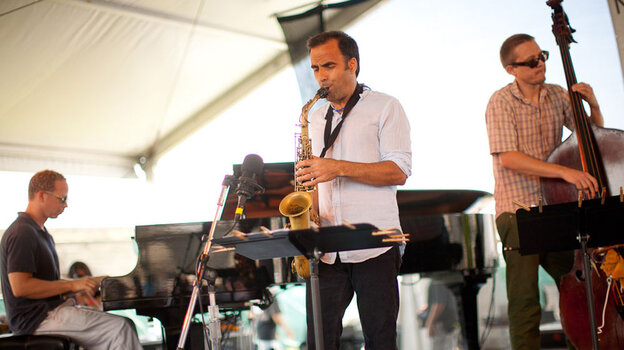 Dave Binney Quartet at Newport Jazz; credit: Erik Jacobs for NPR