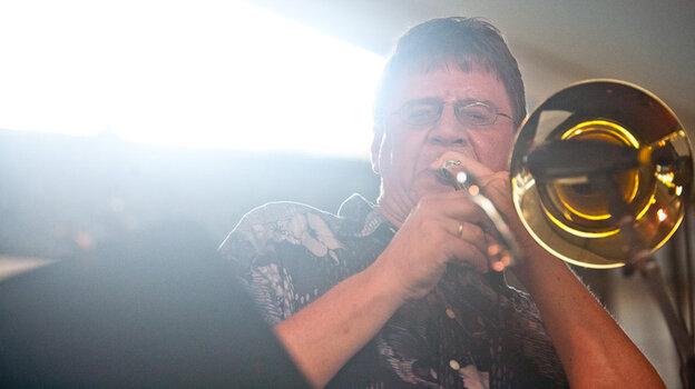 Conrad Herwig performs at the CareFusion Newport Jazz Festival 2010.