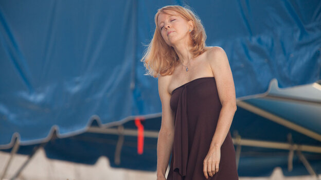 Maria Schneider Orchestra at Newport Jazz 2010; credit: Erik Jacobs for NPR