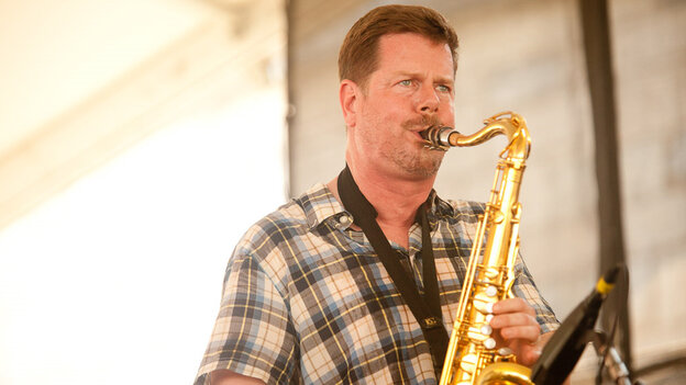 Ken Vandermark Powerhouse at Newport Jazz Festival; credit: Erik Jacobs for NPR