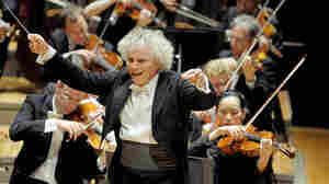 Conductor Simon Rattle and the Berlin Philharmonic