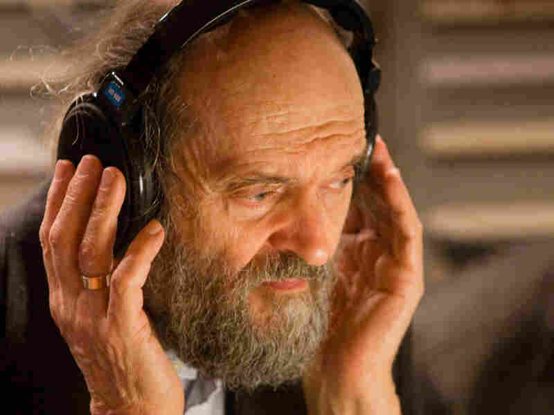 Arvo Part in a recording session