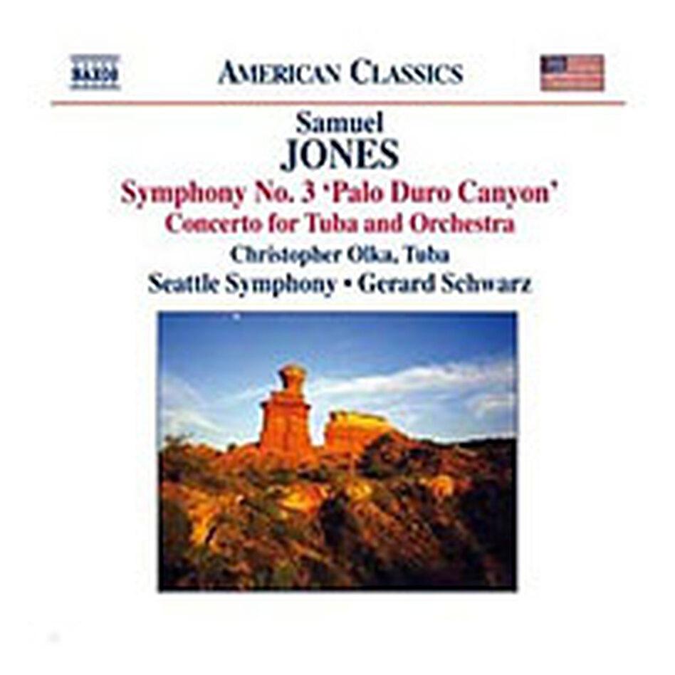 Cover for Samuel Jones: Symphony No. 3; Tuba Concerto